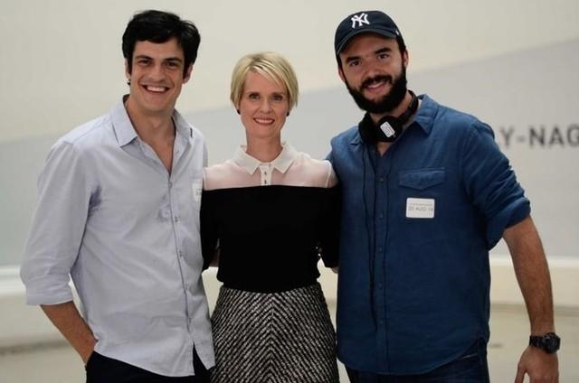 Mateus Solano,  Cynthia Nixon e Rodrigo Bernardo (Foto: Gigi Kassis)