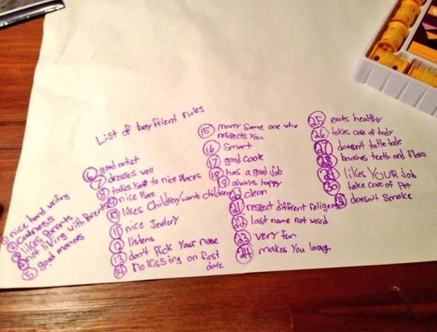 Blaire e Brooke, de 6 e 9 anos, fizeram lista com as 'regras' necessárias para o namorado ideal (Foto: Reprodução/Twitter/Gabrielle Daniels)