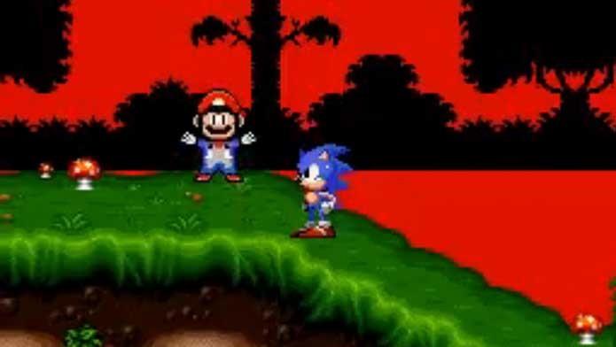 Mario já teve crossover com Sonic no SNES (Foto: Reprodução/Felipe Vinha)