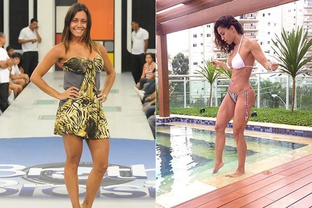 Lia Khey perdeu barriga e conquistou corpo sequinho. Trocou cabelos lisos por ondulado natural (Foto: TV Globo/Divulgação/Reprodução)