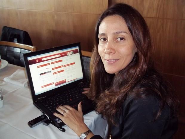 Gabriela Derenne, diretora regional da claro para rio e es (Foto: Lilian Quaino/G1)