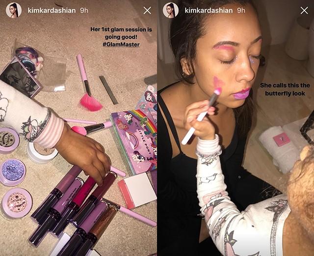 North West ataca de maquiadora (Foto: reprodução/instagram)