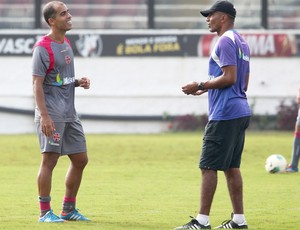 Felipe e Cristovão, treino do Vasco (Foto: Ivo Gonzalez / Agência o Globo)