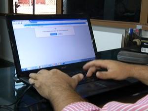 Provedores de internet têm prejuízos com problema na rede de fibra óptica (Foto: Reprodução/TV Tapajós)