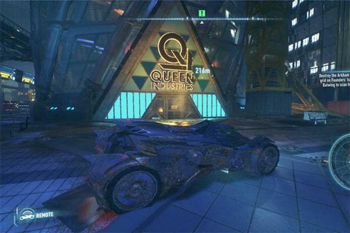 Oliver Queen também trouxe seus negócios a Gotham (Foto: Reprodução/Rocksteady)
