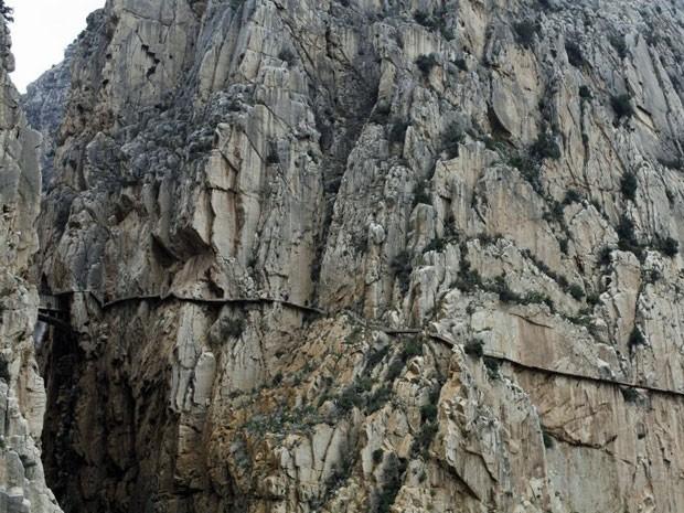 Caminito del Rey, trilha perigosa em El Chorro, na Espanha (Foto: Philippe Lissac/Godong / Photononstop / AFP)