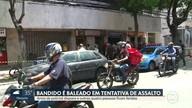 Cinco pessoas ficaram feridas, numa tentativa de assalto em Botafogo