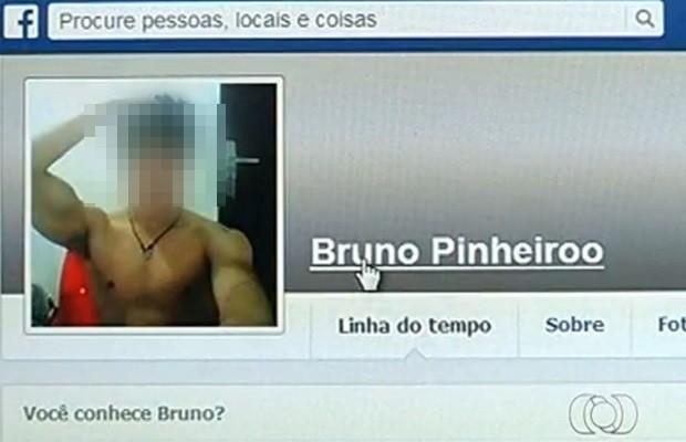 Suspeito usava perfil falso em rede social para atrair as vítimas, diz PM (Foto: Reprodução/TV Anhanguera)