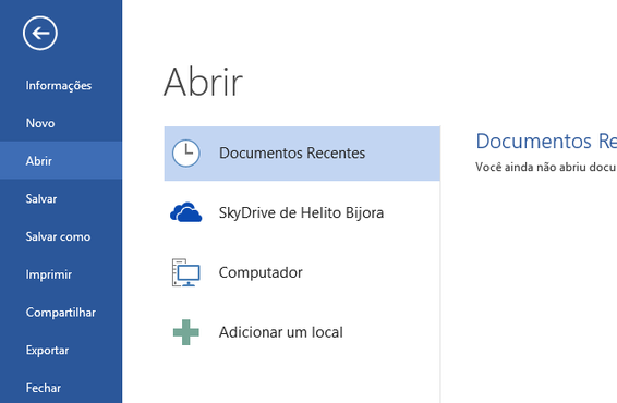 screenshot de Microsoft Office 2013