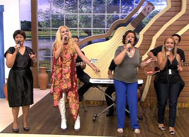 Damas do rasqueado animaram a tarde do programa (Foto: TVCA)