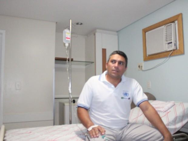 O prefeito de Domingos Mourão, Júlio César Barbosa, continua internado. (Foto: Ellyo Teixeira/G1)