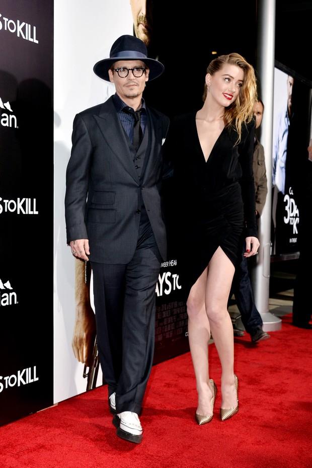 Amber Heard e Johnny Depp (Foto: AFP / Agência)