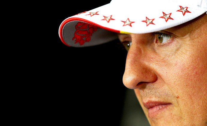 Michael Schumacher no treino do GP do Brasil (Foto: Getty Images)