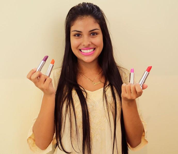A estudante Munik sonha em apresentar o Jornal Nacional (Foto: Gabriella Dias/Gshow)