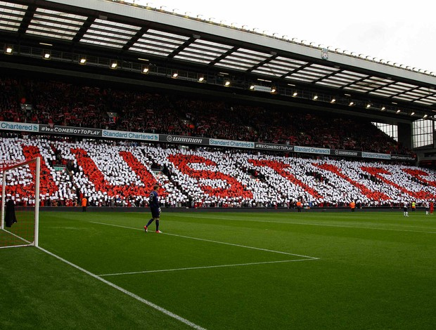homenagem liverpool x  manchester united (Foto: Reuters)