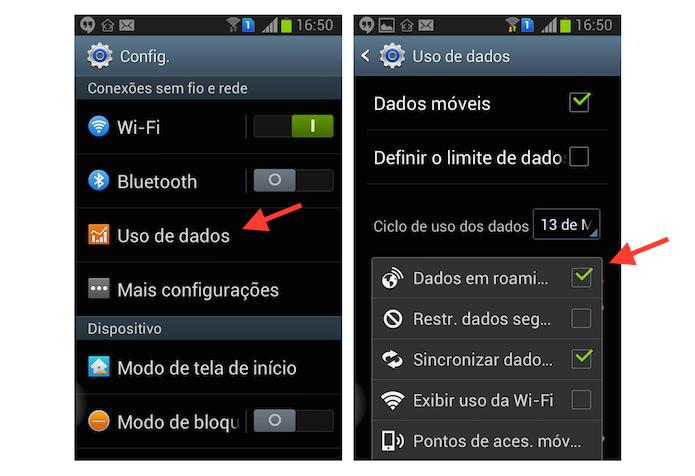 Desativando o roaming de dados de um aparelho Android (Foto: Reprodução/Marvin Costa) (Foto: Desativando o roaming de dados de um aparelho Android (Foto: Reprodução/Marvin Costa))