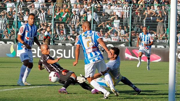 Figueirense x Avaí - goleiro Diego (Foto: Divulgação/ assessoria Figueirense)