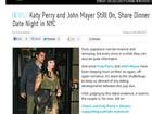 Reataram? John Mayer e Katy Perry saem para jantar em Los Angeles
