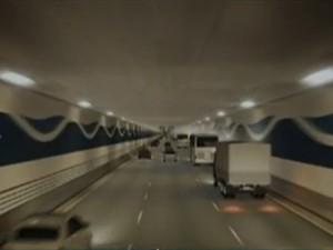 Projeto de túnel que ligará Santos a Guarujá está pronto (Foto: Reprodução / TV Globo)