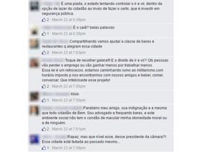 Postagens em redes sociais retratam críticas à fala do presidente da Câmara dos Vereadores de Goiânia Goiás (Foto: Reprodução/Facebook)