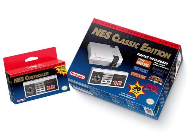 NES Classic Edition virá com 30 jogos na memória e saída HDMI para se conectar a televisores de alta definição (Foto: Divulgação/Nintendo)