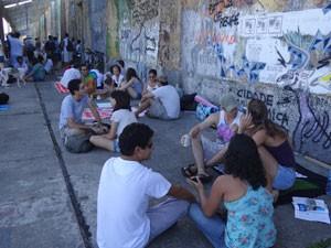 Movimento Ocupe Estelita toma o Cais José Estelita, no Recife (Foto: Luna Markman / G1 PE)