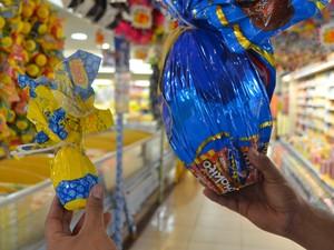 Ovos de chocolate em Macapá variam de R$ 5 a R$ 60 (Foto: Fabiana Figueiredo/G1)