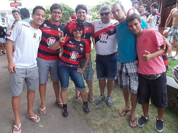 Torcedores Vitória, Ba-Vi, Bahia (Foto: Lílian Marques/ G1)