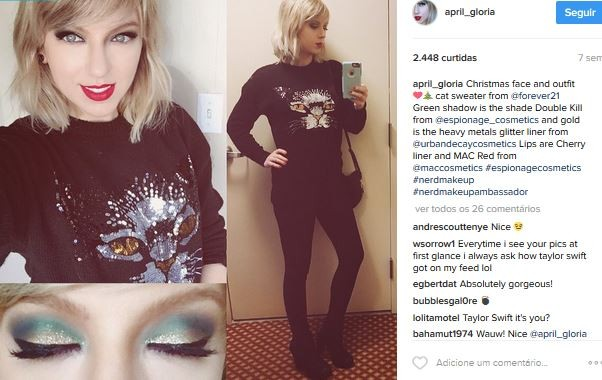 April Glória, sósia de Taylor Swift  (Foto: Instagram / Reprodução)