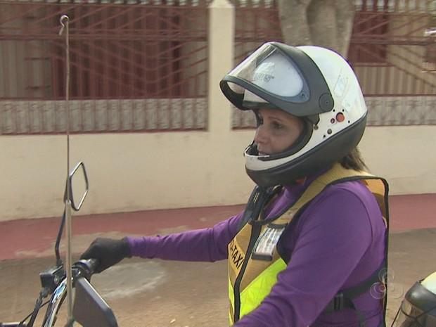 Mototaxista no Acre (Foto: Reprodução/TV Acre)