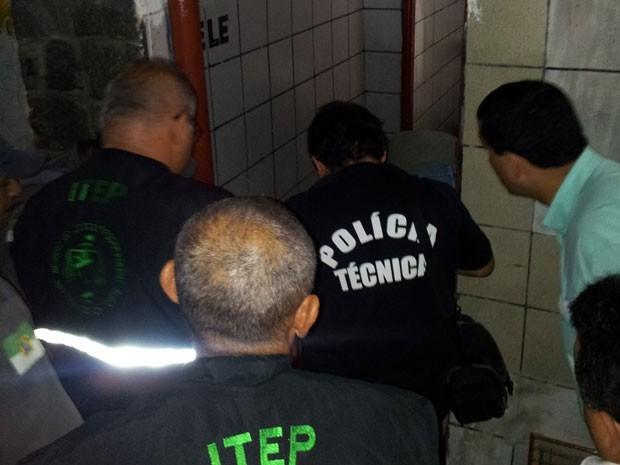 Advogado foi assassinado em banheiro de bar em Natal (Foto: Jorge Talmon/Inter TV Cabugi)