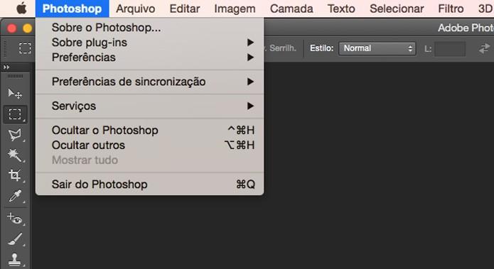 Acessando o menu no Mac (Foto: Reprodução/André Sugai)