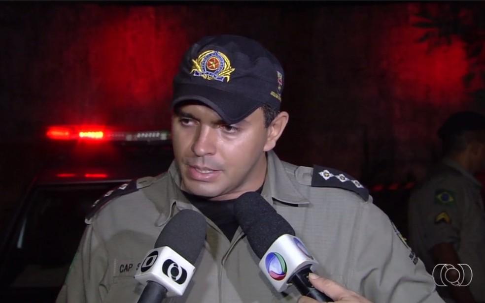 Augusto Sampaio de Oliveira Neto foi indiciado por lesão corporal grave contra estudante em protesto (Foto: Reprodução/ TV Anhanguera)