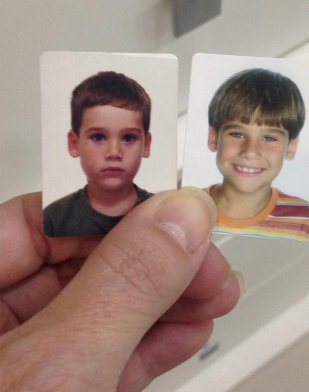 Nicolas Prattes quando criança (Foto: Reprodução/Twitter)