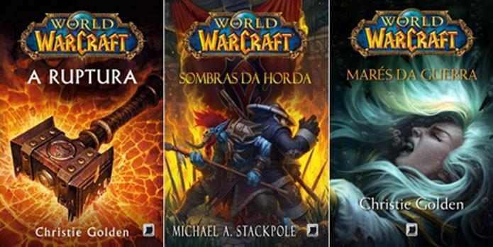 Alguns dos livros de WoW publicados no Brasil (Foto: Divulgação)