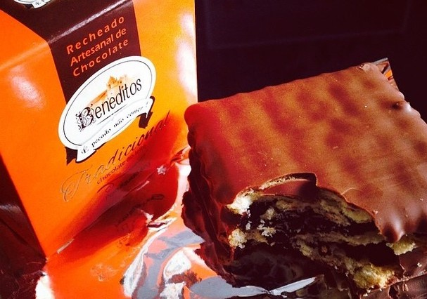 Biscoitos delícia com creme de cacau (Foto: Reprodução)