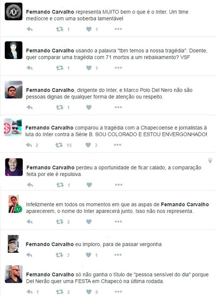 Repercussão declaração Fernando Carvalho (Foto: Reprodução)