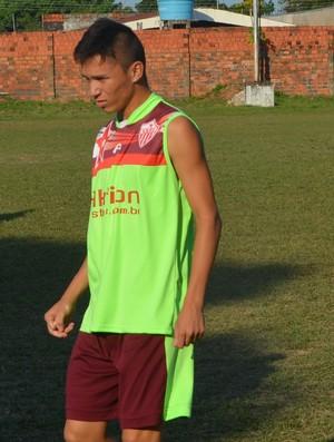 Ramon Vilhena e Polaco, meias Rio Branco-AC (Foto: Duaine Rodrigues)