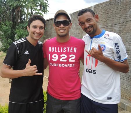 Hernane flamengo amigos banda de axé na Bahia (Foto: Cahê Mota)