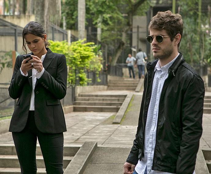 Atores gravaram cenas em parque da Zona Norte do Rio de Janeiro (Foto: Inácio Moraes/Gshow)
