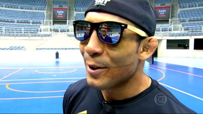 José Aldo retornou ao Maracanãzinho (Foto: Reprodução TV Globo)