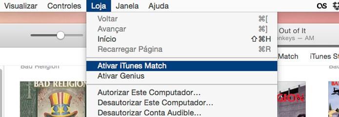 Ative o iTunes Match (Foto: Reprodução/André Sugai)