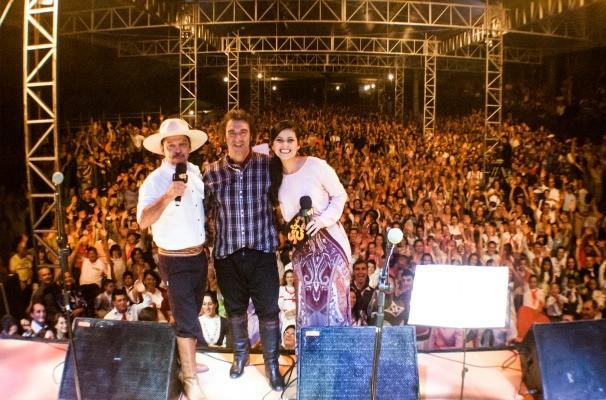 João Chagas Leite é uma das atrações do Galpão em Jacutinga (Foto: Daniel Bittencourt/RBS TV)