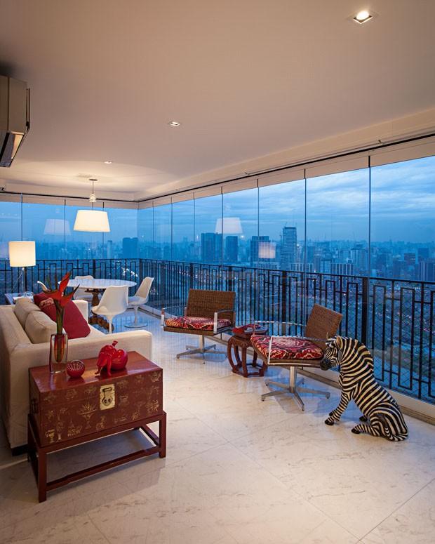 Espaço de sobra em SP: reforma une dois apartamentos em um (Foto: Divulgação)