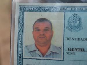 Soldado Gentil Roberto Brandini, de 42 anos, da Polícia Militar, morto em São Pedro (Foto: Fernanda Zanetti/G1)