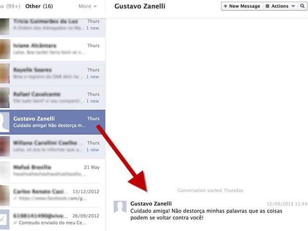Advogado utilizou rede social para tentar intimidar maranhense que se sentiu ofendida (Foto: Reprodução/Facebook)