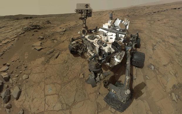 Imagem do robô Curiosity, que está em marte e se prepara para uma nova fase de exploração do planeta (Foto: Reuters/Nasa)
