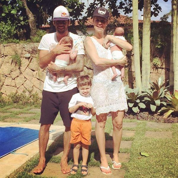 Luana Piovani com a familia (Foto: reprodução/instagram)