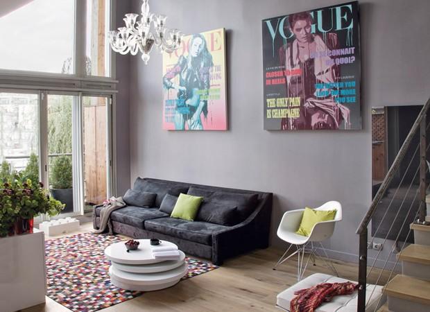 decoracao de sala jovem:uma sala de estar jovem contemporânea de atmosfera levemente