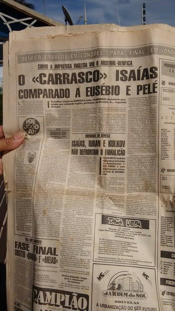 Isaías, ex-atacante do Benfica (Foto: Tébaro Schmidt/ GloboEsporte.com)